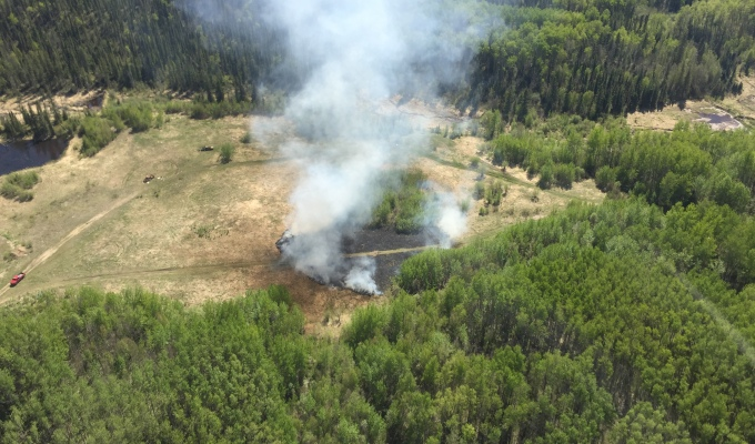 Wildfire Caused by Exploding Target